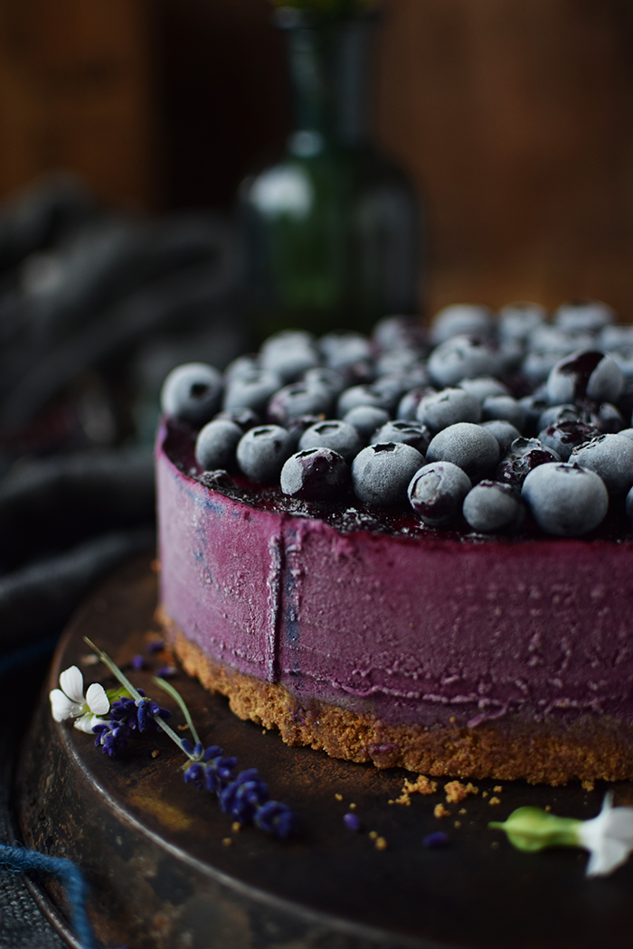 No Bake Blaubeer Cheesecake - No Bake Blueberry Cheesecake (10)