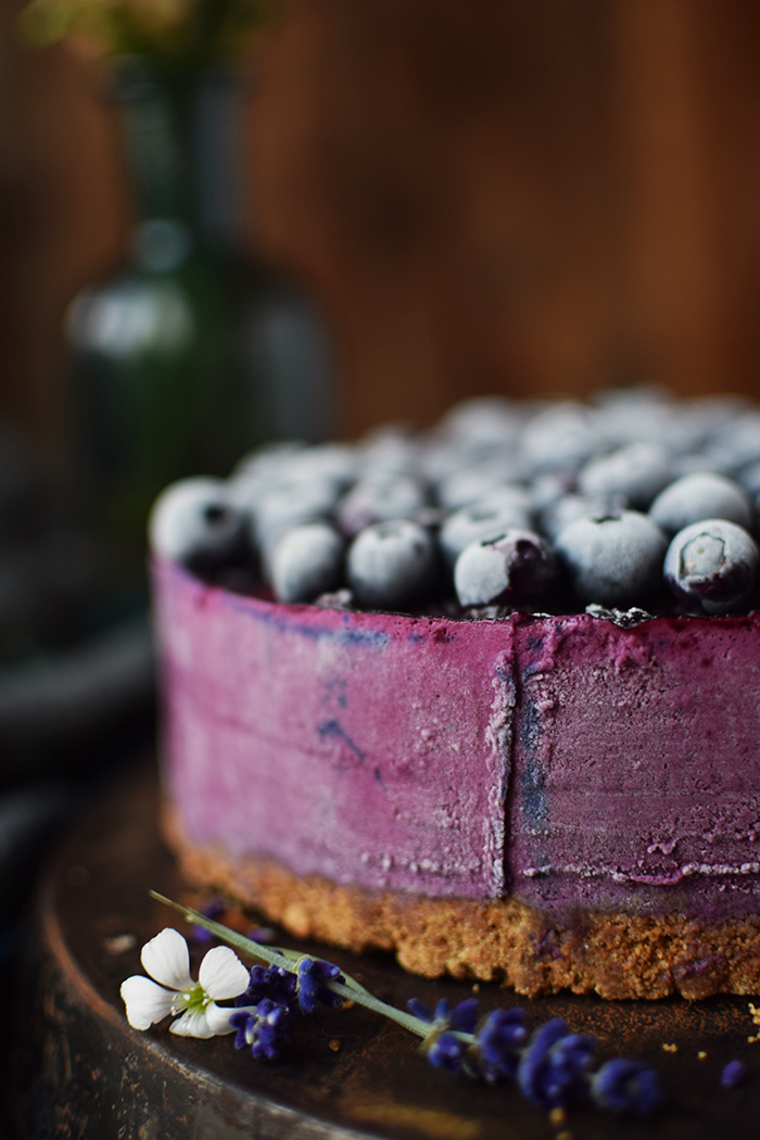 No Bake Blaubeer Cheesecake - No Bake Blueberry Cheesecake (12)