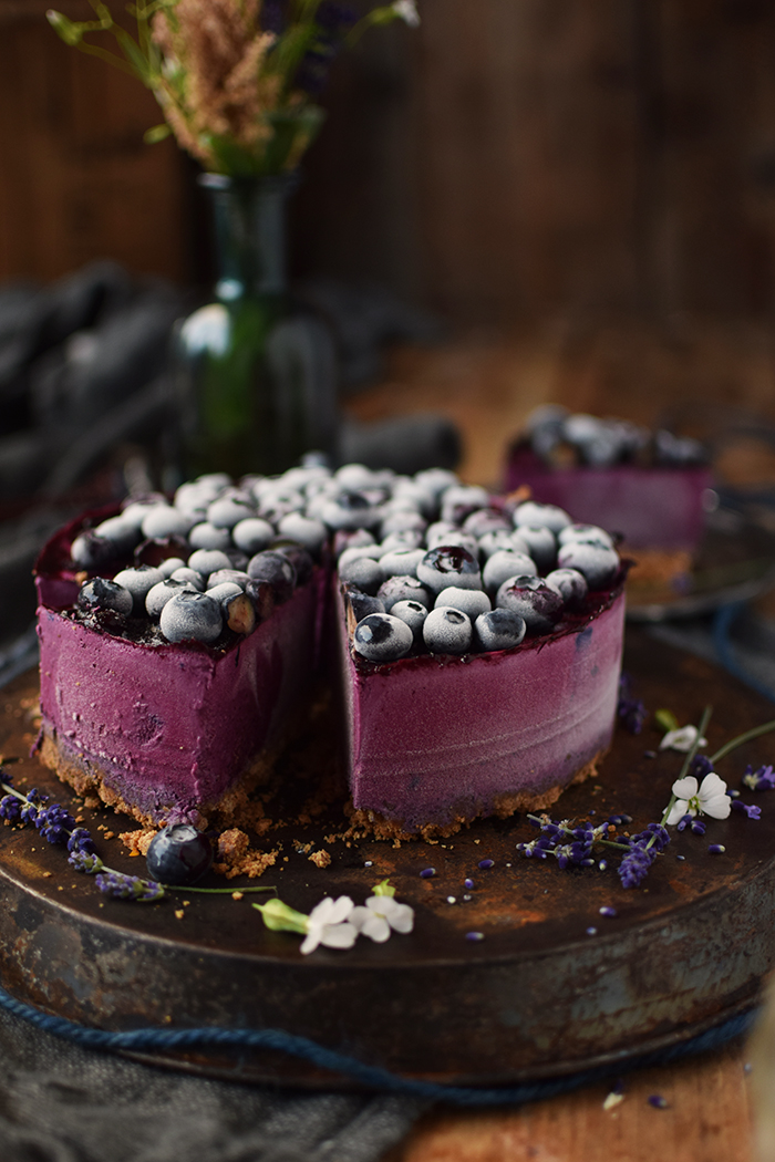 No Bake Blaubeer Cheesecake - No Bake Blueberry Cheesecake (15)