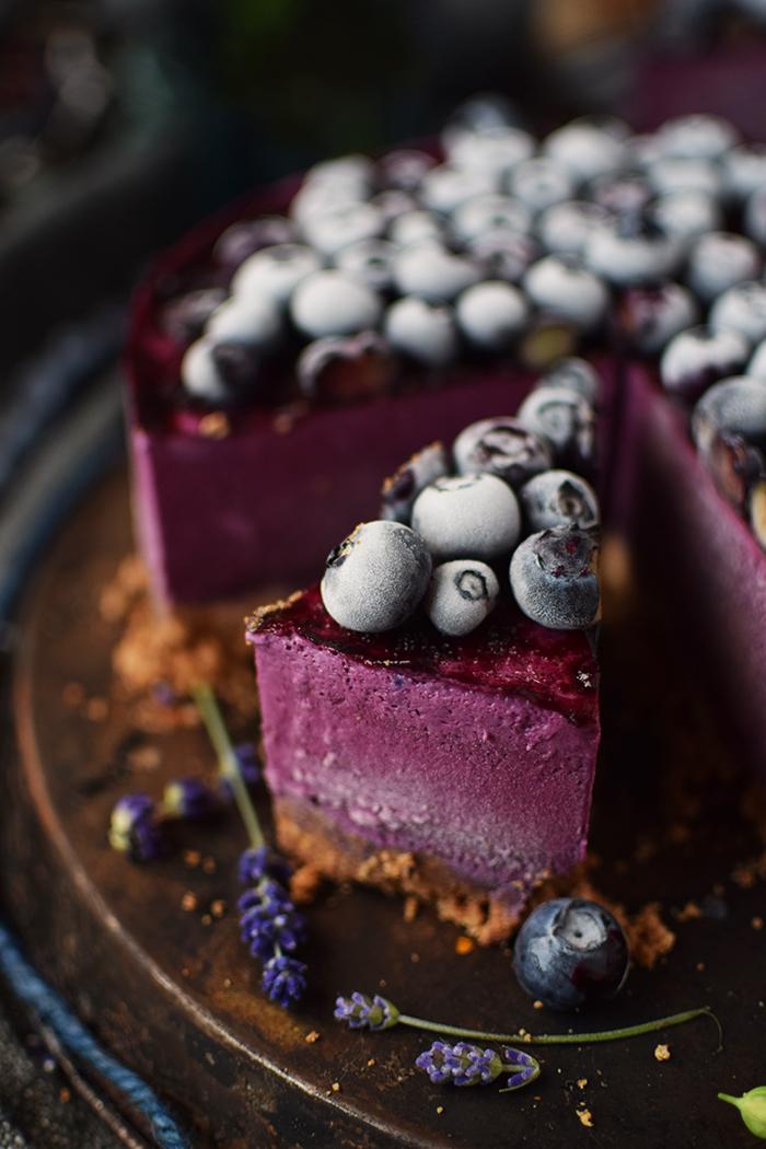 No Bake Blaubeer Cheesecake - No Bake Blueberry Cheesecake (16)