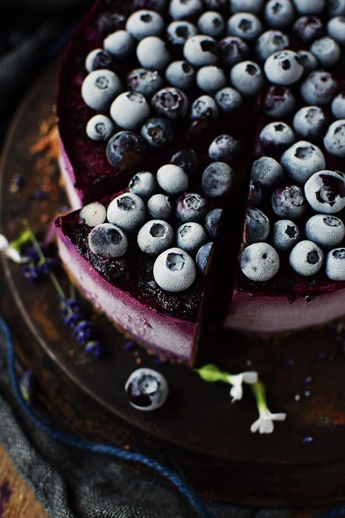 No Bake Blaubeer Cheesecake - No Bake Blueberry Cheesecake (4)