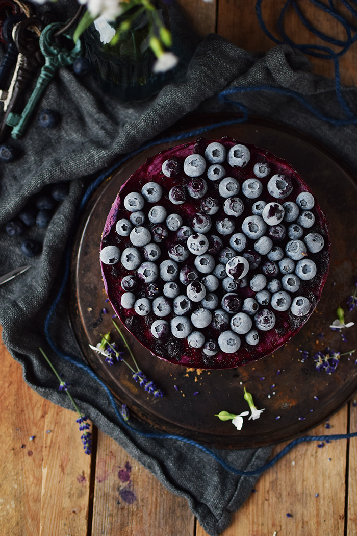 No Bake Blaubeer Cheesecake - No Bake Blueberry Cheesecake (6)