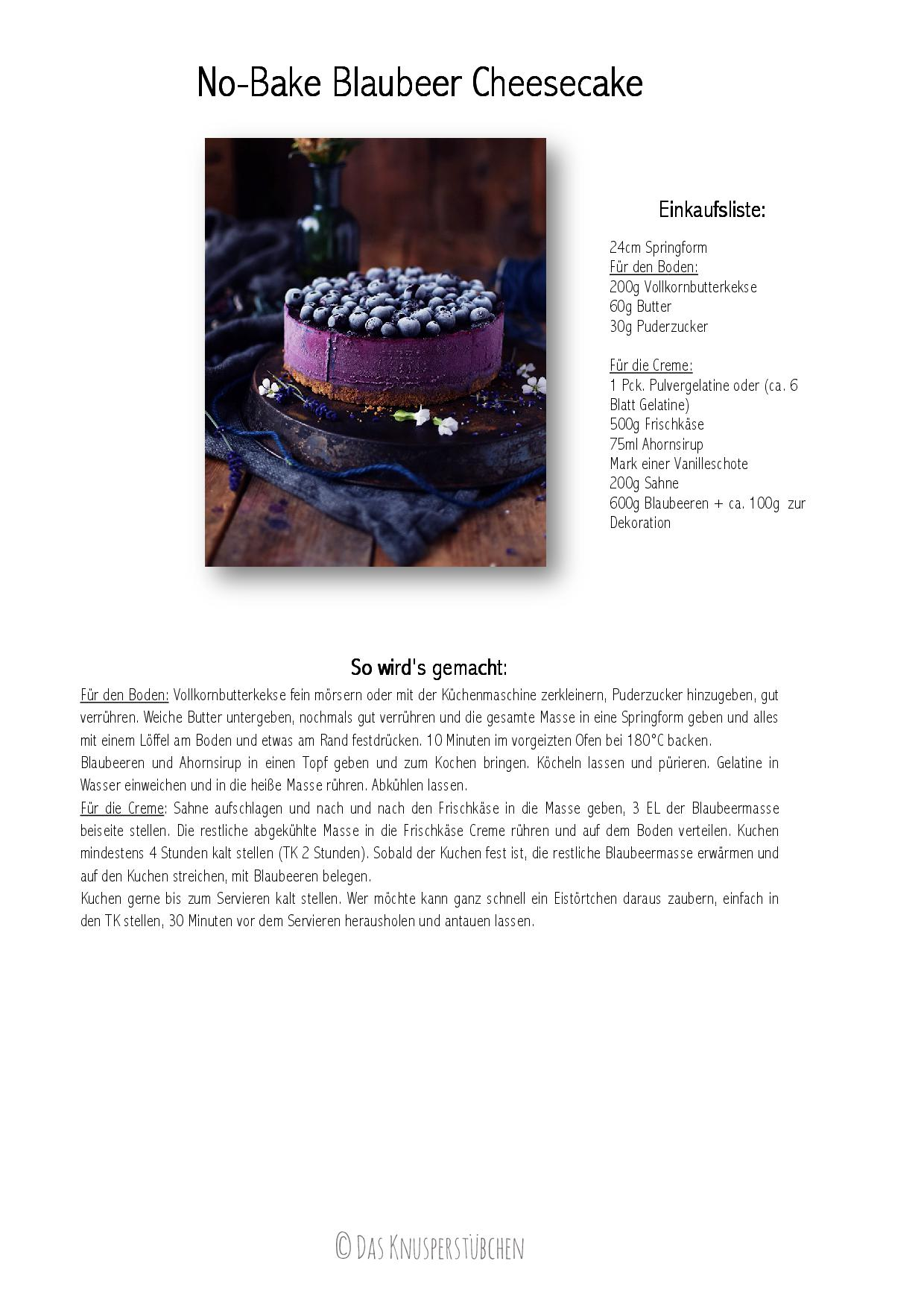 No-Bake Blaubeer Cheesecake Rezept-001