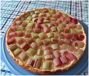 Pudding-Tarte mit Obst