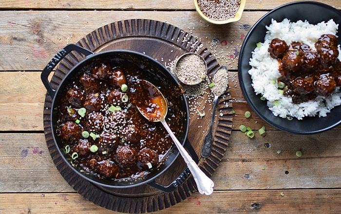 Sesam Teriyaki Fleischbällchen: Soulfood schnell gemacht!