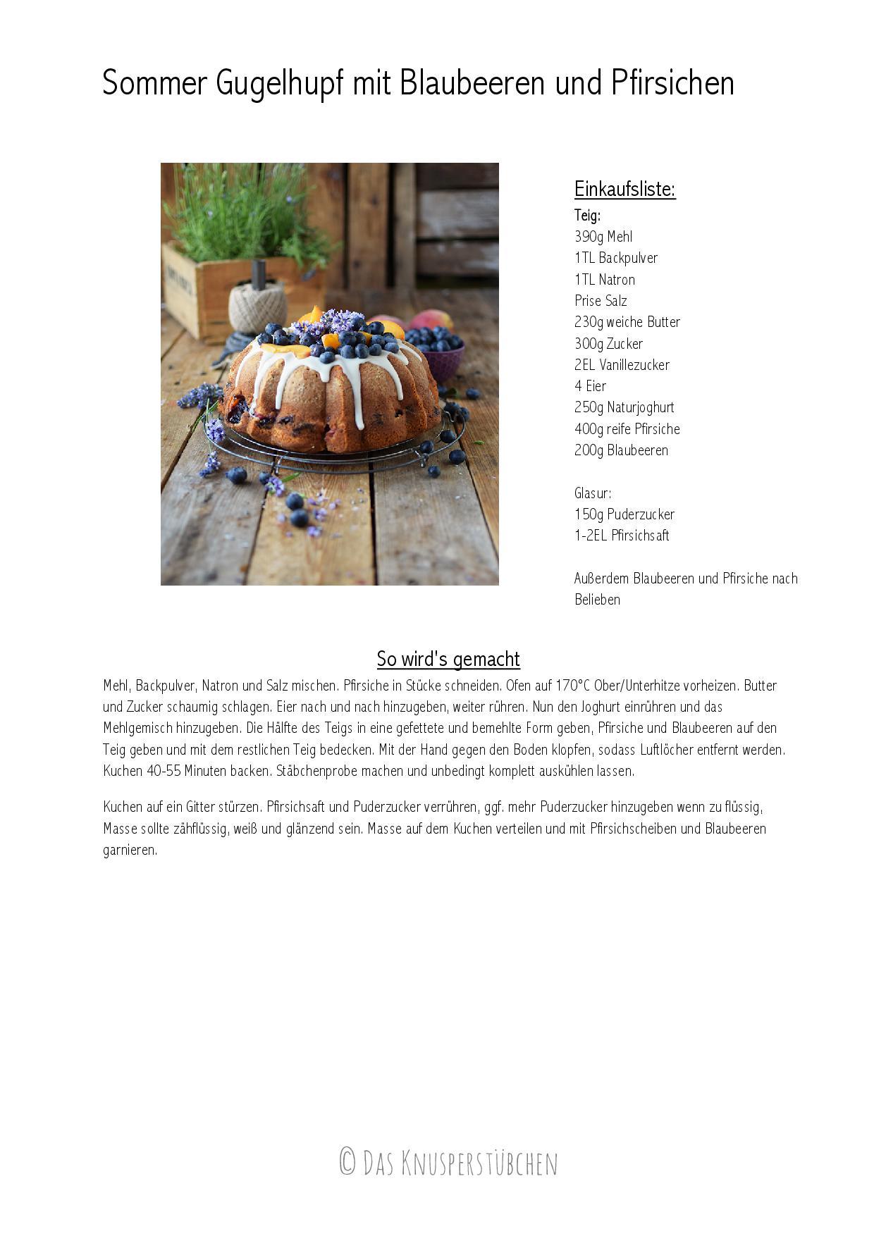 Sommer Gugelhupf mit Blaubeeren und Pfirsichen-001