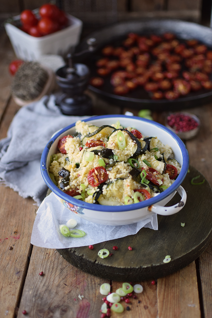 Couscous Salat mit Ofengemuese - Couscous Salad with roasted vegetables (4)