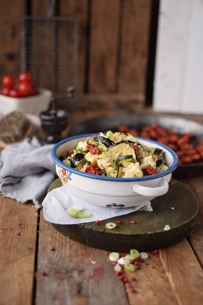 Couscous Salat mit Ofengemuese - Couscous Salad with roasted vegetables (9)