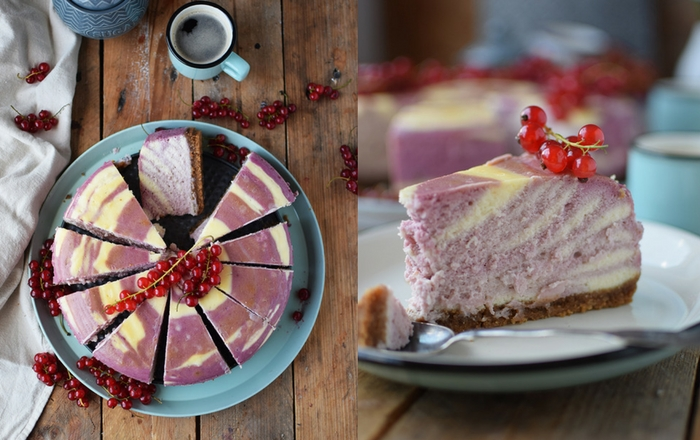 Johannisbeer Zebra Cheesecake - Red Currant Zebra Cheesecake