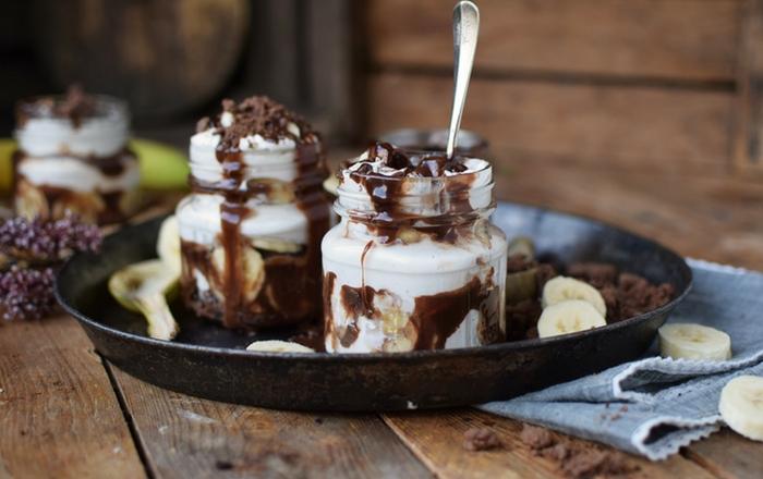 Bananen-Split-Dessert: Schokoladig gut