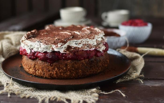Haselnuss-Kirsch-Kuchen: ein Familienklassiker