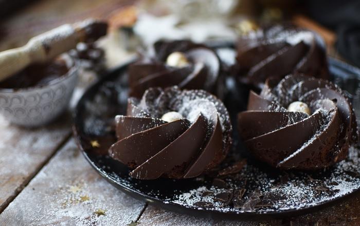 Lebkuchen Gugl mit Schokomantel: 20. Türchen