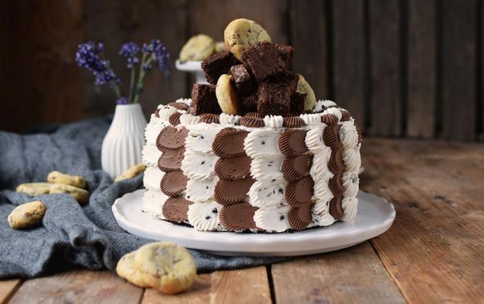 Brownie-Cookie-Torte: Drei Jahre Knusperstübchen ♥✪✿