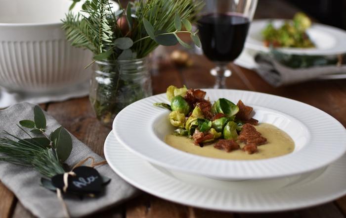 Pastinaken-Creme-Suppe: Weihnachtsmenü und ein Gewinn