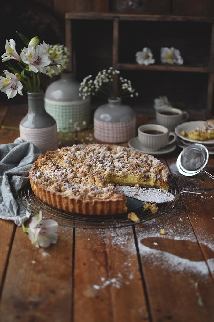 Streusel Pudding Kuchen Knusperstubchen