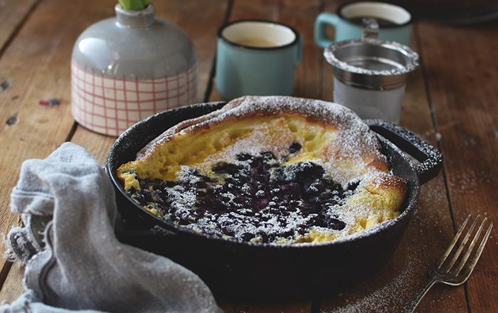 Dutch Pancake mit Blaubeeren: Pancake Tuesday, wir sind vorbereitet!