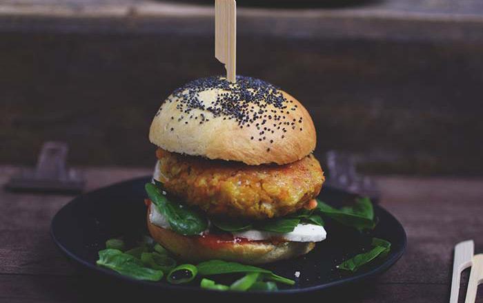 Linsenburger: orientalisch und vegetarisch