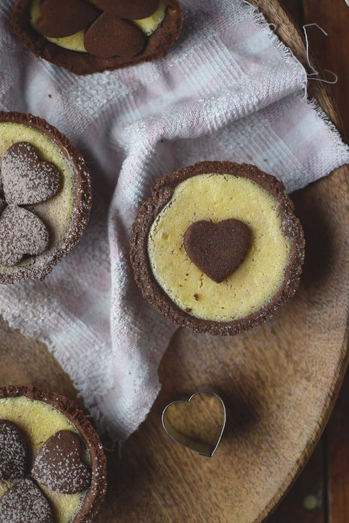 Schoko-Herz-Cheesecake-Muffins: Be my Valentine