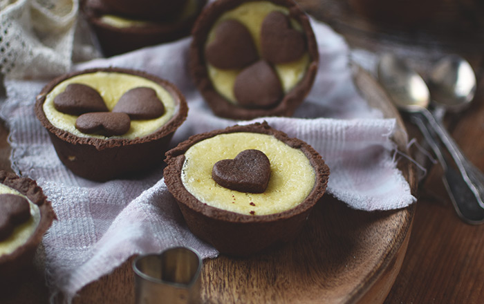 Schoko-Herz-Cheesecake-Muffins: Be my Valentine