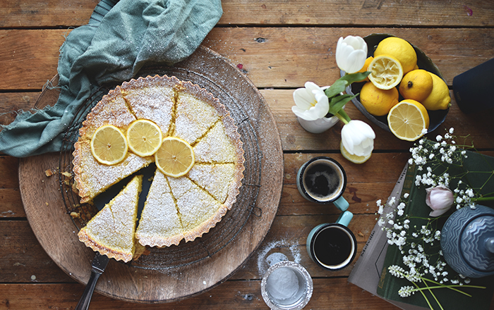 Zitronen Buttermilch Shortbread Tarte Fruhlingsgefuhle