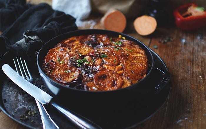 Süßkartoffel-Ofen-Tortilla: Würzig und gut