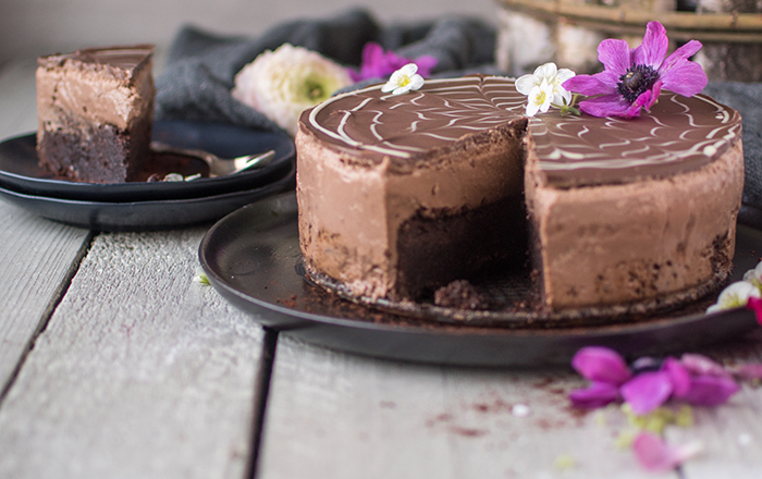 Brownie-Schoko-Mousse-Torte: Auszeit für Chocoholics