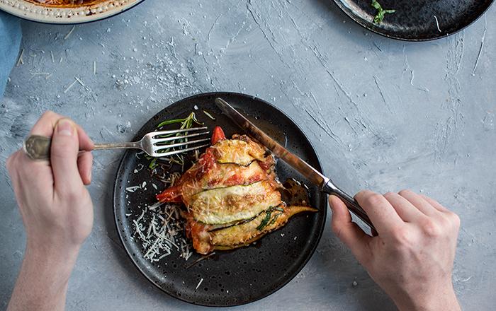Zucchini-Lasagne low carb