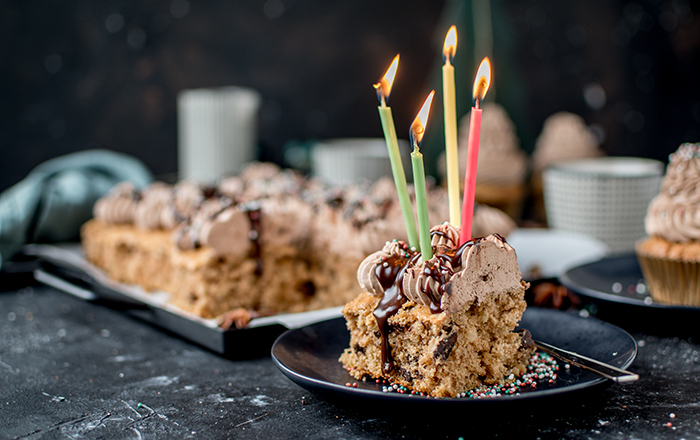 Lebkuchen mit Schokocreme & vier Jahre Knusperstübchen: Happy Birthday