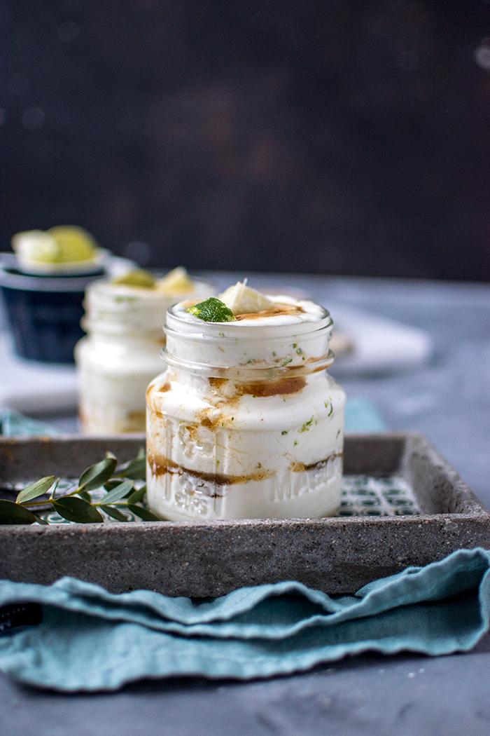 Caipirinha als Dessert – Limetten Joghurtcreme