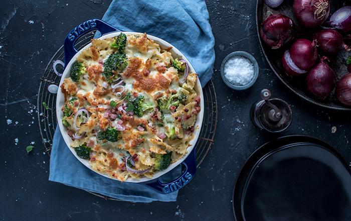 Pasta-Gratin mit Brokkoli