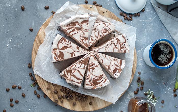 Eiskaffee-No-Bake-Törtchen und Tchibo Caffè Blonde