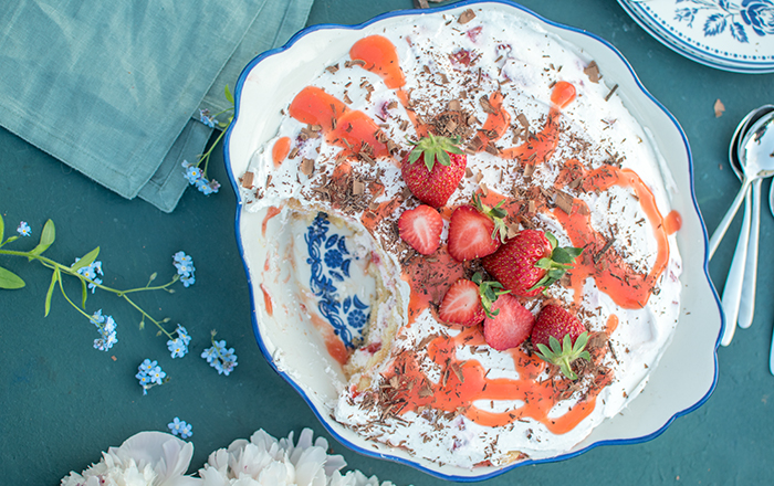 Erdbeer-Joghurt-Tiramisu: Her mit dem Dessert!