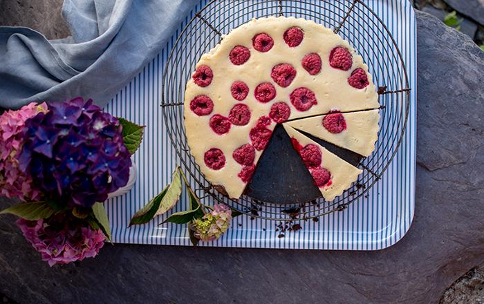 Brownie-Cheesecake mit Himbeeren & Irlandurlaub Teil 2