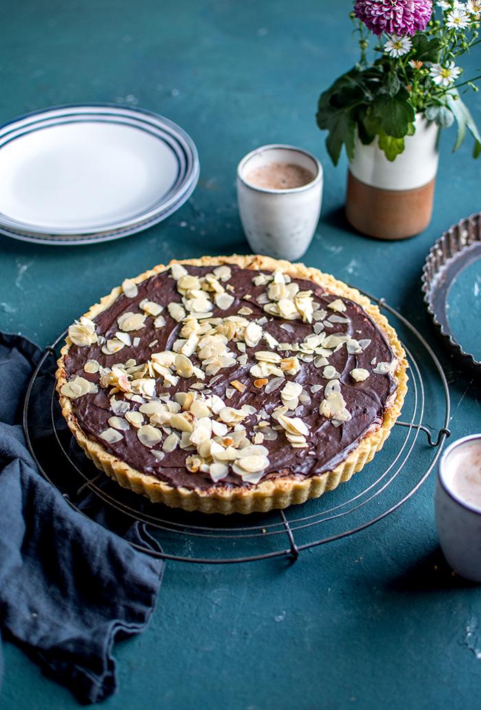 Gebrannte Mandeln Schokoladen Tarte 5 Knusperstubchen