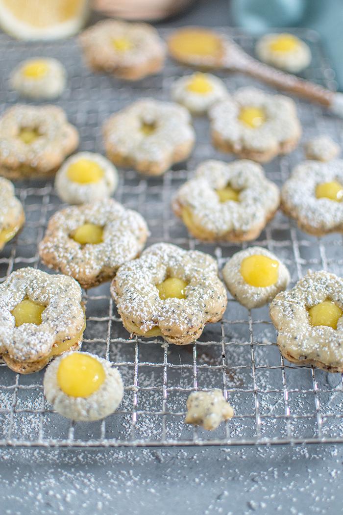 Lemon Curd Mohn-Plätzchen (ohne Ei): Hurray Plätzchensause