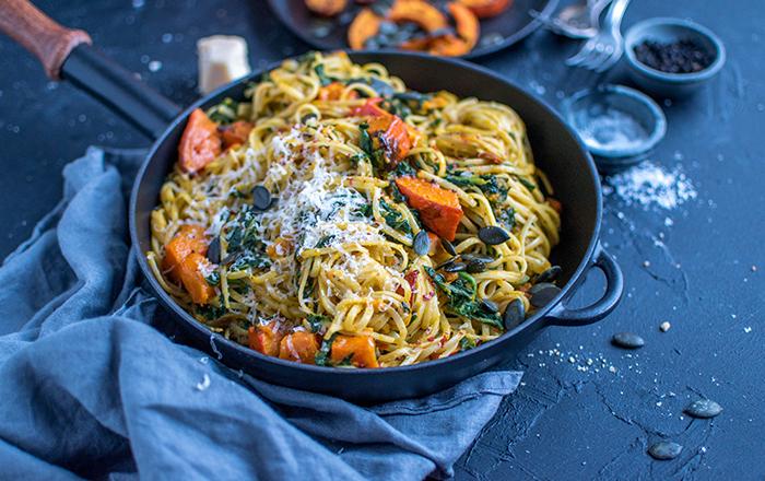 Ofenkürbis-Pasta: Pasta für die Seele
