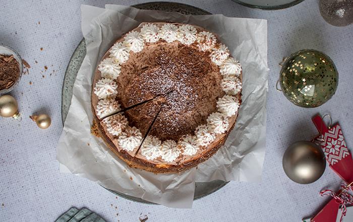 Marzipan-Cheesecake mit Schokohaube & Gewinnspiel