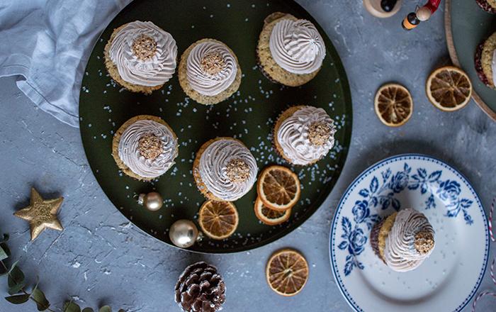 Nougat-Baileys-Cupcakes mit Giotto