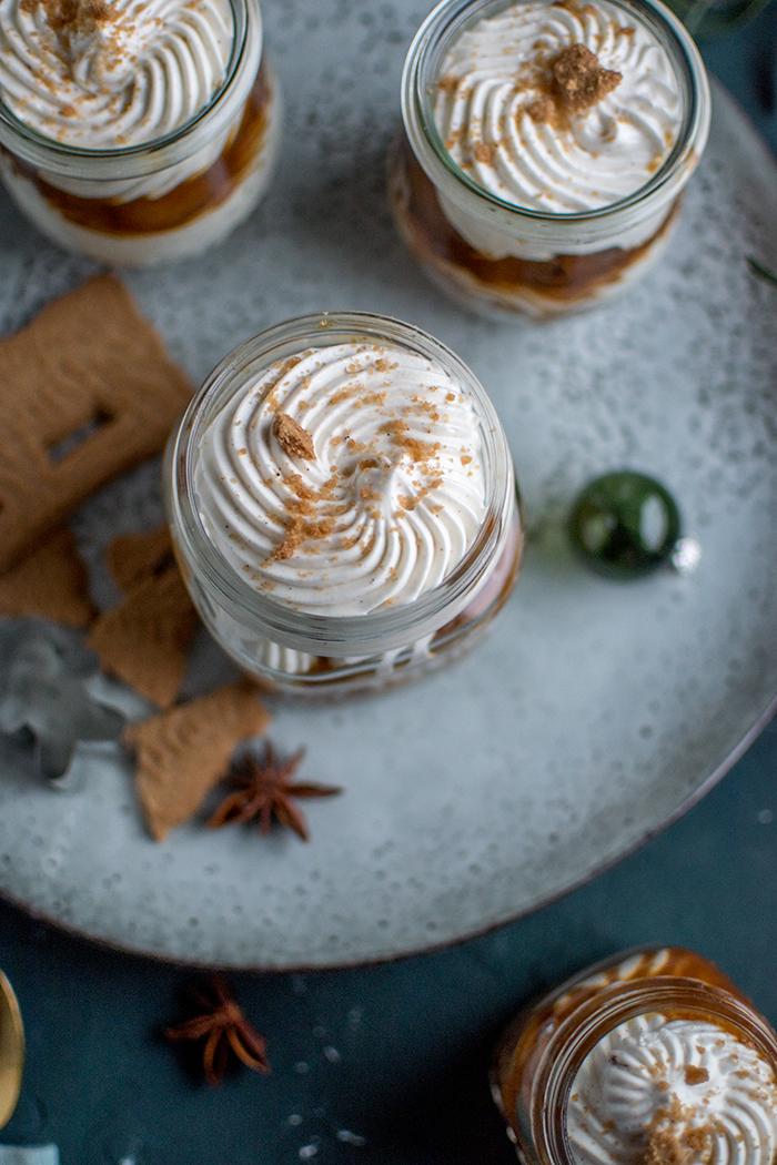 Toffee Apfel Quark Dessert Mit Spekulatius Streusel Knusperstübchen
