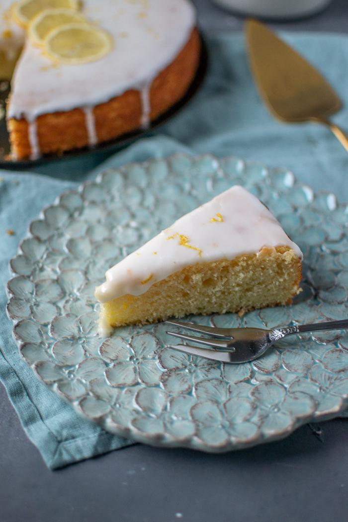 Zitronen Griess Kuchen Frisch Ins Neue Jahr Knusperstubchen