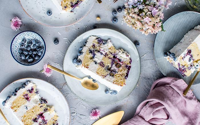 Blaubeer-Zitronen-Torte: ein sommerlicher Geburtstagskuchen