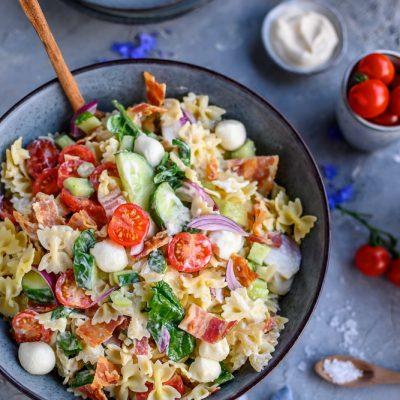 Sommerlicher Pasta-Salat: Los geht die Grillsause!