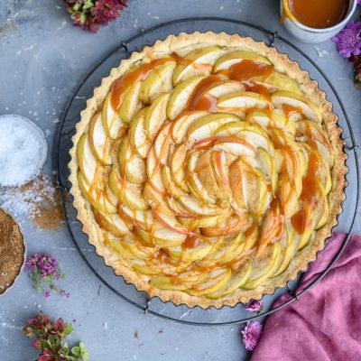 Apfel-Tarte mit Salzkaramell: Spätsommer, Du bist so schön
