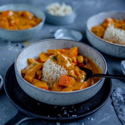 Kürbiscurry mit Kichererbsen: Soulfood im Herbst
