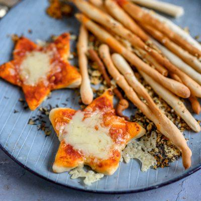 Grissini oder Pizza-Sterne