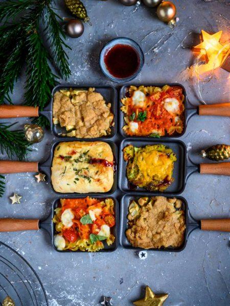Raclette-Ideen für Heiligabend: Rösti, Focaccia, Pasta & Apple Crumble