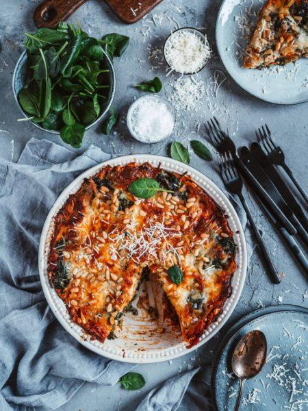 Spinat-Pesto-Lasagne
