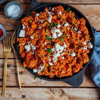 Reispfanne mit Tomaten: Mittagspause oder Feierabendessen leicht gemacht
