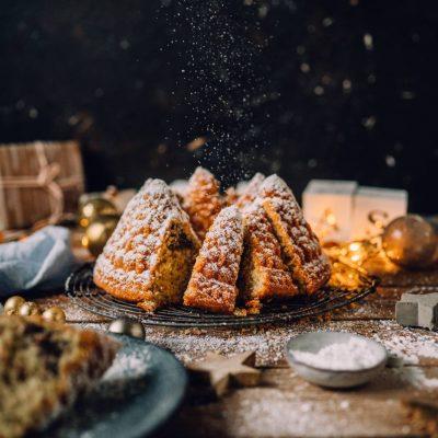 Nusskuchen mit Lebkuchenpudding-Kern und ein Gewinnspiel zum ersten Advent