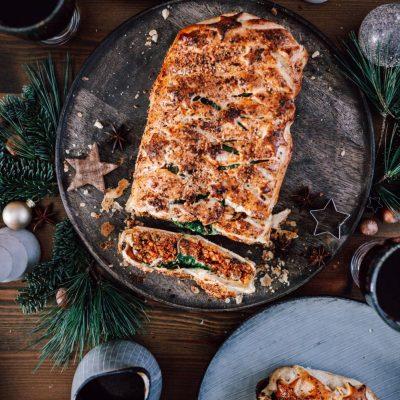 Weihnachtsbraten im Blätterteigmantel vegetarisch oder auch Veggie Wellington